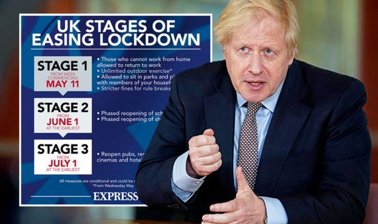 Boris predicts UK will emerge 'stronger than ever before' as he announces three-stage plan
