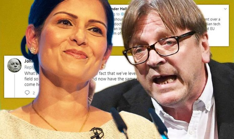 Still bitter about Brexit? Verhofstadt mocked after Patel dig – 'You're not laughing now!'