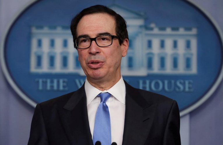 Mnuchin defends U.S. fiscal response to pandemic, seeks payroll loan extension