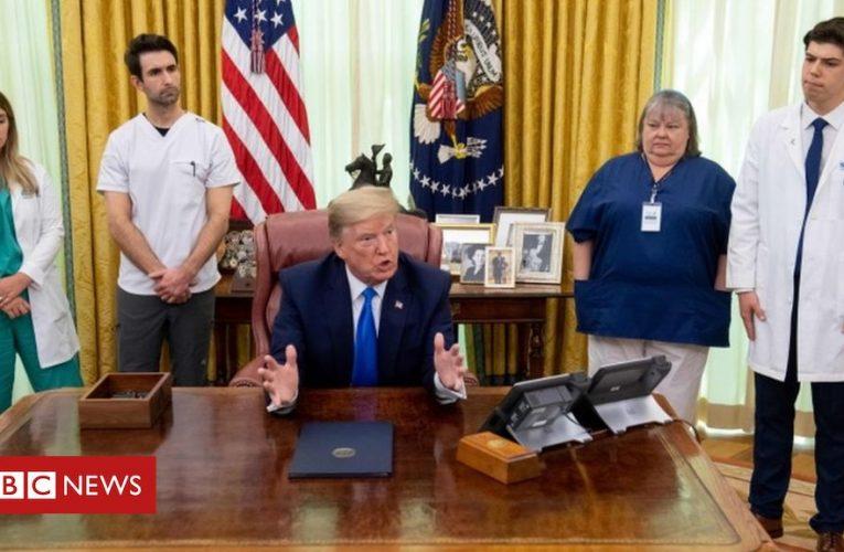 Trump says virus worse 'attack' than Pearl Harbor
