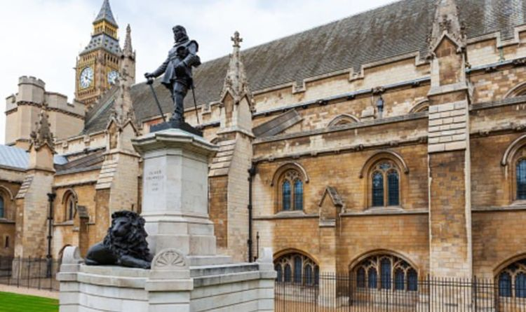 Now Labour peer demands iconic statueof CROMWELL is torn down