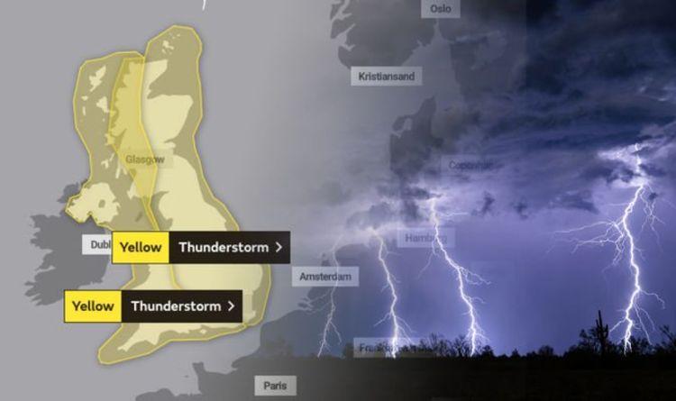 Met Office warnings: Three days of lightning storms to strike Britain as temperatures SOAR