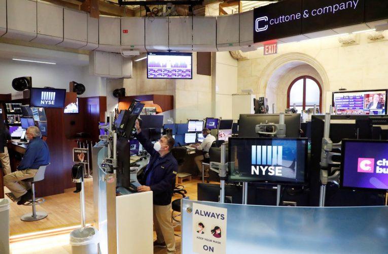 Wall Street leads stocks' rebound, sterling dips