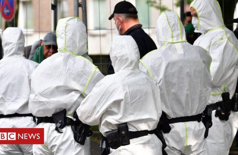 Extra police enforce German tower block quarantine