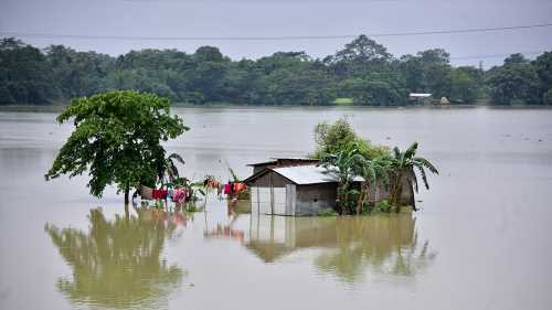 India floods: Thousands evacuated in Assam as river banks burst