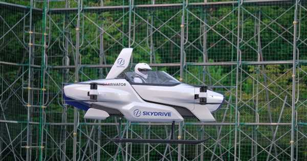 Flying car firm becomes world's first to lift vehicle several feet off ground