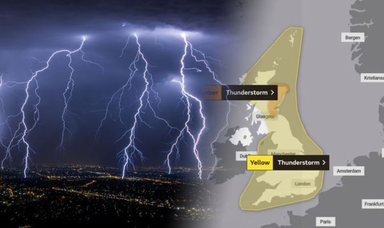 Met Office issue rare AMBER warning for thunderstorms: Is your area affected?