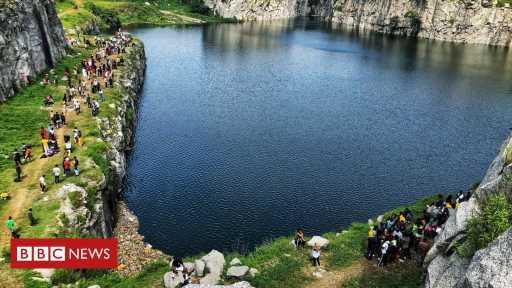 The quarry that has become an internet sensation