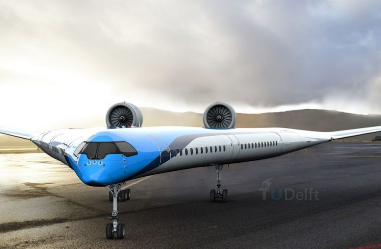 V-shaped plane takes flight for first time in boost to future of air-travel