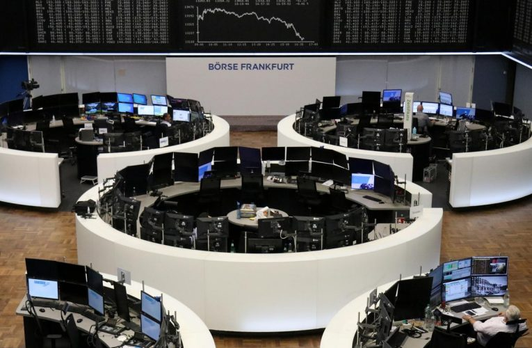 World shares edge higher after tech rout, oil slides