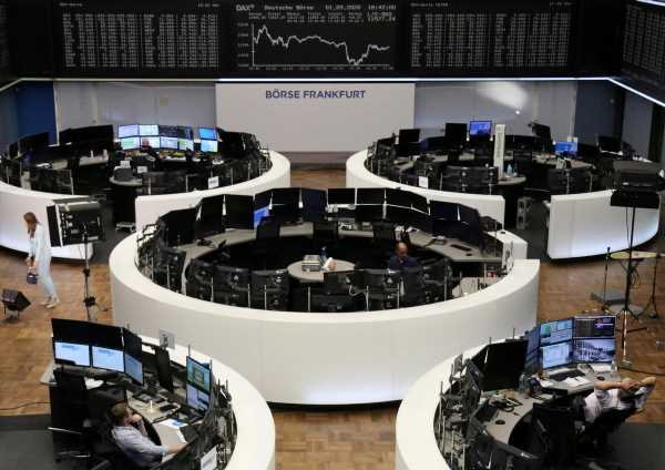 European shares turn lower as banks fall ahead of ECB meeting