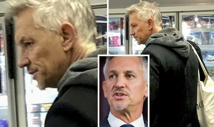Gary Lineker shops without face mask – after slating people who don't wear them