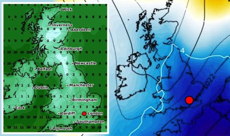UK snow forecast: Britain braces as charts show SNOW may hit the south NEXT WEEK -new maps