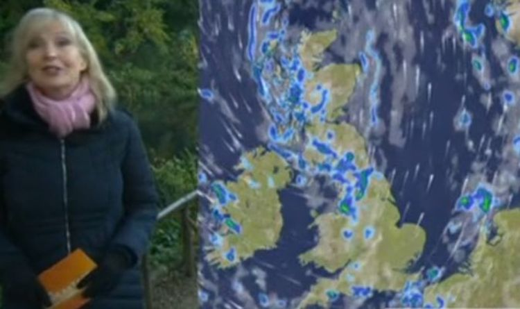 BBC Weather: Carol Kirkwood warns thunder and hail to batter UK as wall of water hits