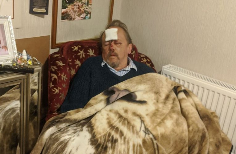 Fuming carer 'caught coronavirus' after being taken to hospital with head injury