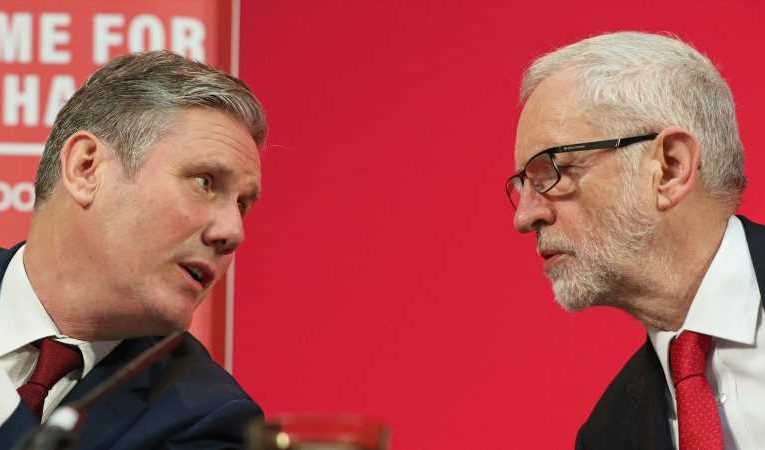 Labour: Sir Keir Starmer 'disappointed' with Jeremy Corbyn but says 'no reason for civil war'