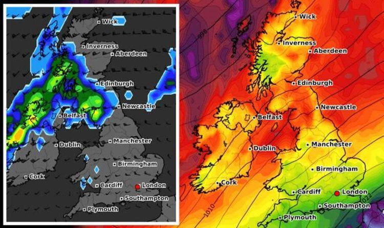 UK cold weather forecast: 46mm of rain to lash Britain as Polar air strikes TONIGHT