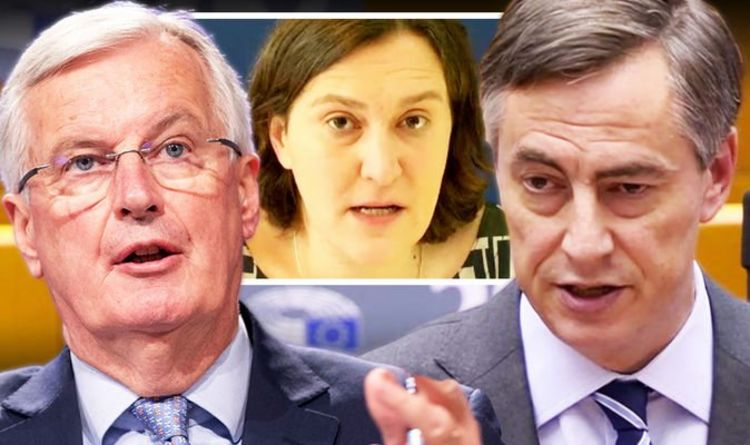 Barnier panics as MEPs threaten to VETO Brexit deal over delay – 'We will have final say!'