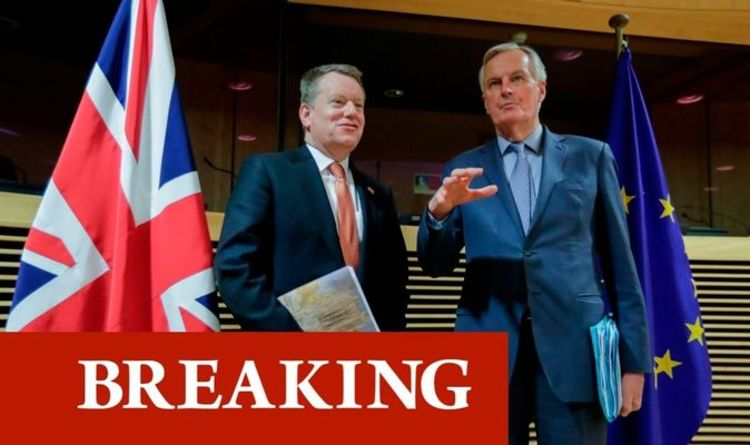 Barnier orders Frost to budge or EU chief will CANCEL crunch Brexit meeting in London