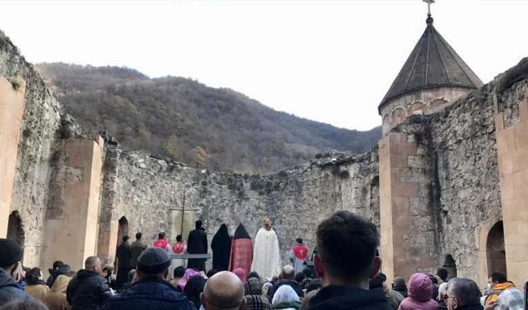 'I don't want to say goodbye': Armenian monastery guarded by military set to pass to Azerbaijan