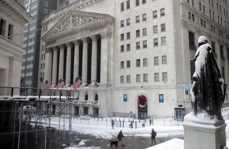 Wall Street ends at record highs as investors eye fiscal stimulus
