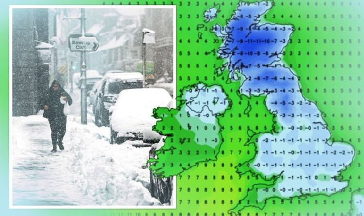UK weather forecast: Chart turns BLUE as -11C Polar air unleashes heavy snow in DAYS
