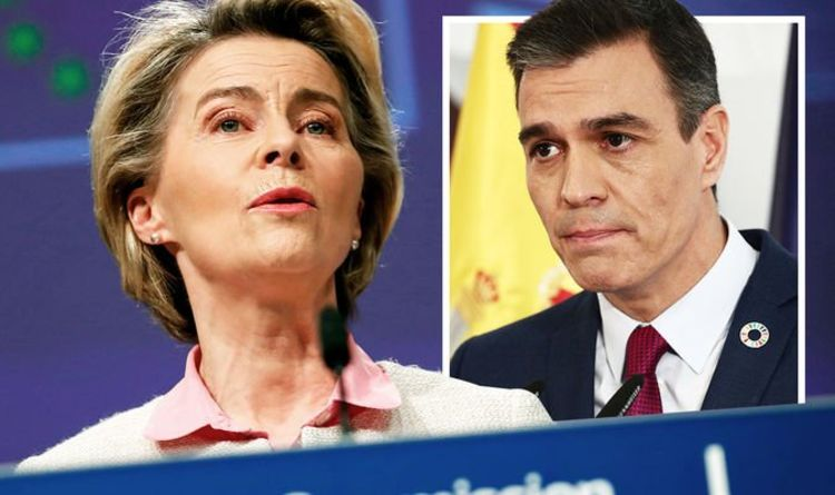 EU holds Spain to ransom as Madrid forced to CUT pensions in return for Covid bailout cash