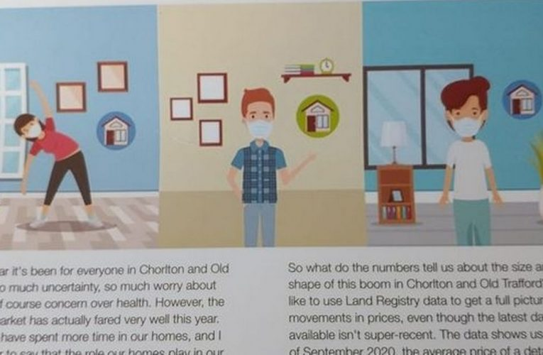 Estate agents blasted for 'tone deaf' leaflet claiming 'Covid is a blessing'