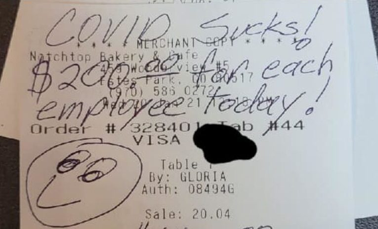 Customer leaves $1,400 tip at Estes Park bakery