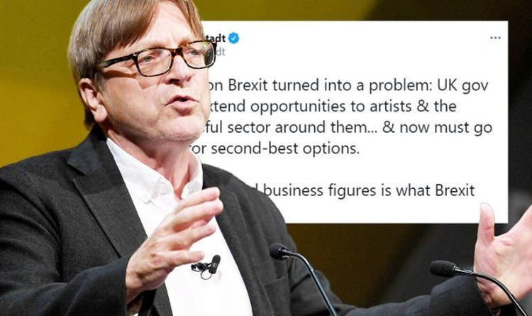 Guy Verhofstadt condemned as a 'clown' after whinging about Brexit AGAIN