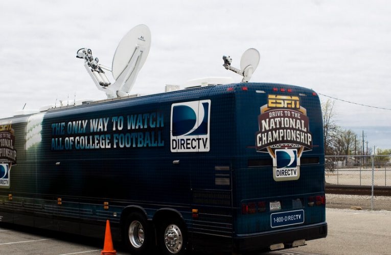 AT&T, loaded with debt from its DirecTV deal, sells part of its TV business to a private equity firm.