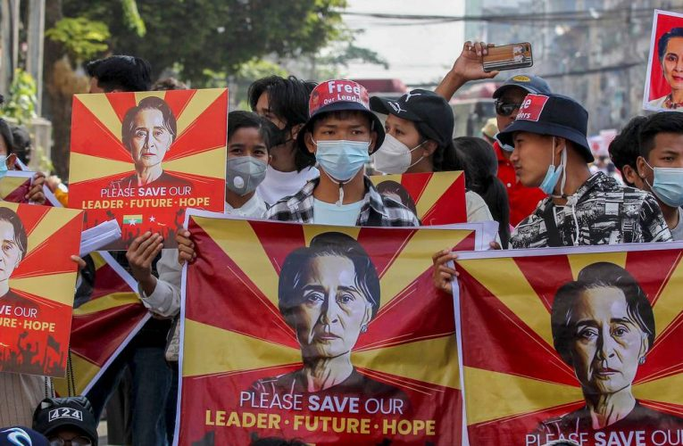 Mass anti-coup protests in Myanmar as UN warns of crackdown