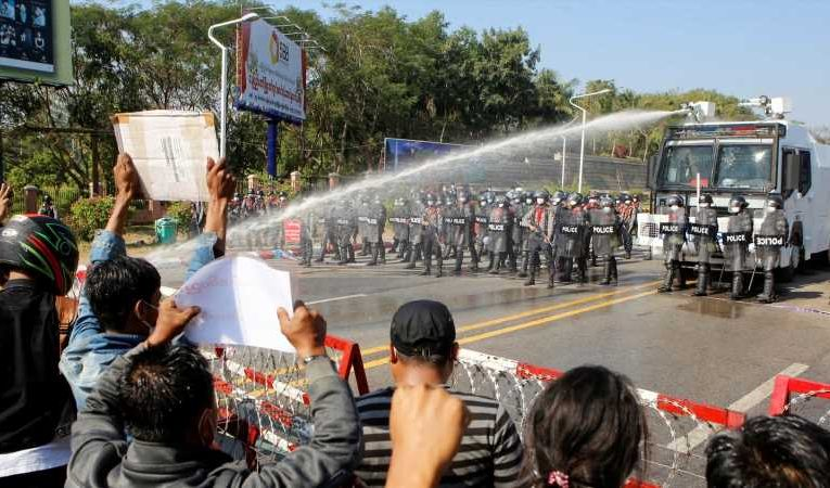 Myanmar coup: Dozens arrested as protesters defy military ban on gatherings