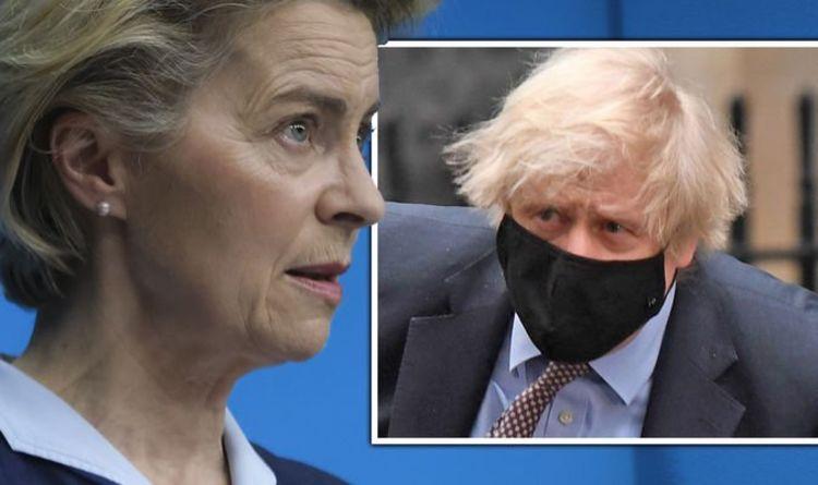 Boris Johnson explodes at Ursula von der Leyen's 'completely false' vaccine export swipe