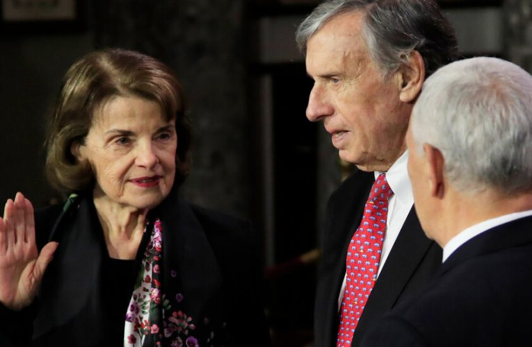 Feinstein's Future Could Swing on Husband's Potential Posting Overseas
