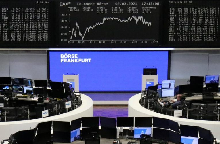 World shares ease as yields and oil ring inflation alarm