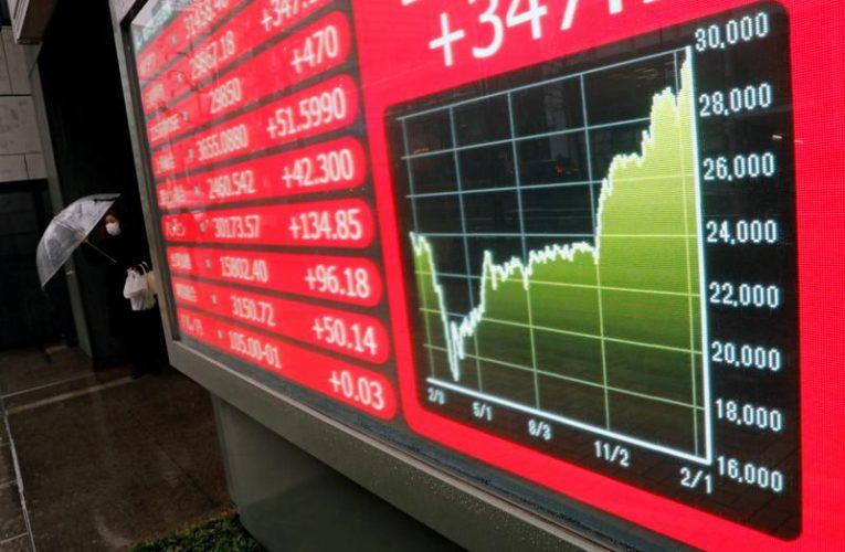 Asian stocks perk up on economic cheer as Treasuries stabilise