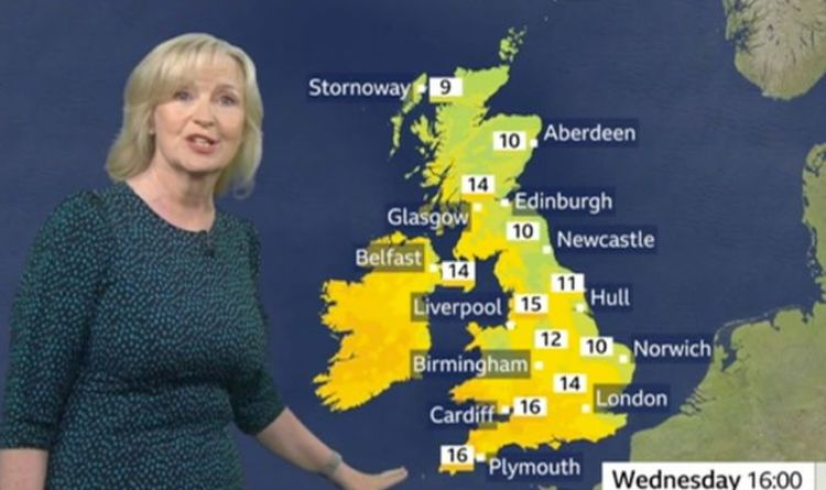 BBC Weather: Carol Kirkwood warns of record-breaking frost ahead of mini heatwave