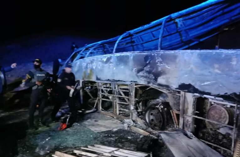 Egypt: At least 20 killed after bus crashes and catches fire while overtaking truck
