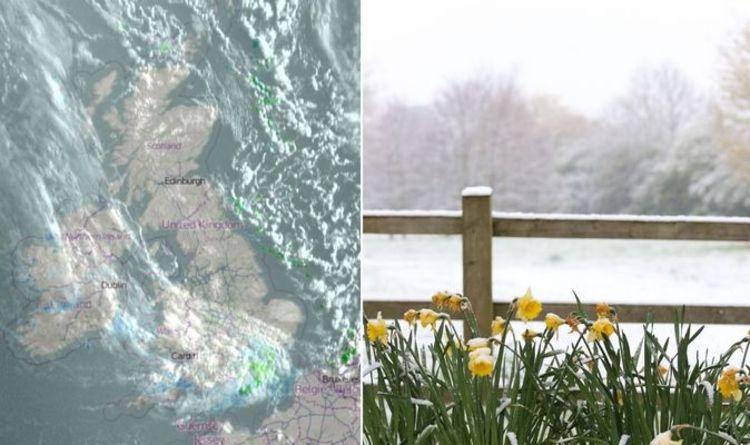 UK snow map LIVE: UK turns white as unforecast snow blankets nation