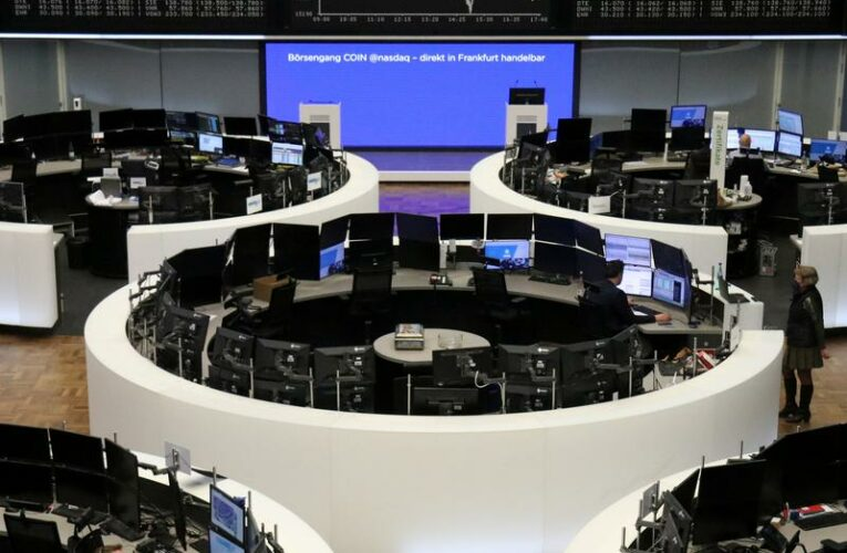 World stocks stay high, Russia's rouble buckles under sanctions stress