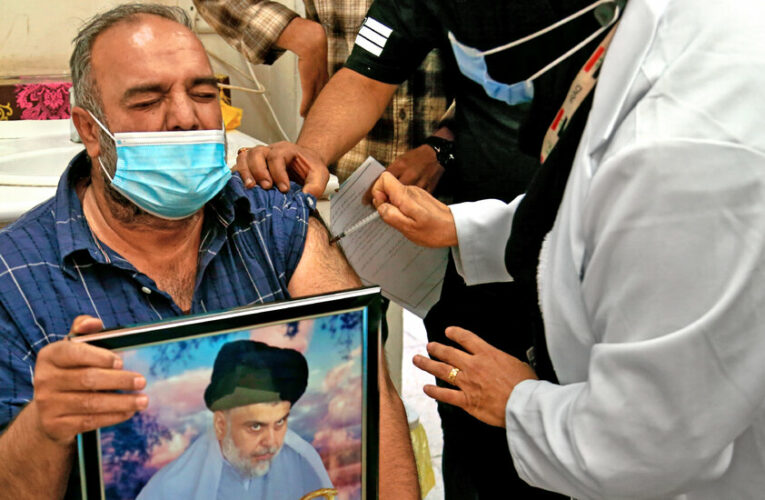 As Iraq struggles with vaccinations, an influential Shiite cleric offers a helping arm.