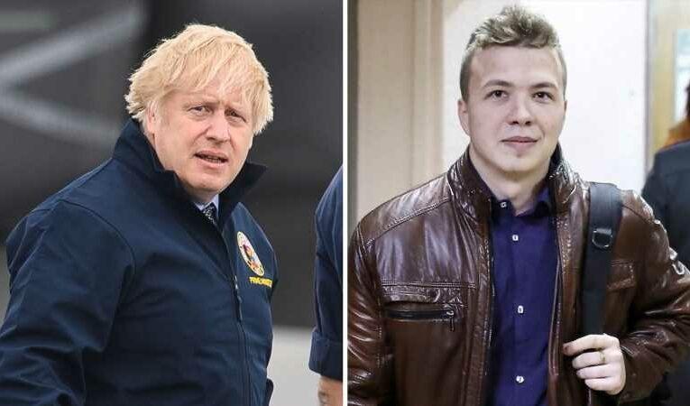 Boris Johnson warns Belarus over 'deeply distressing' video of detained journalist Roman Protasevich