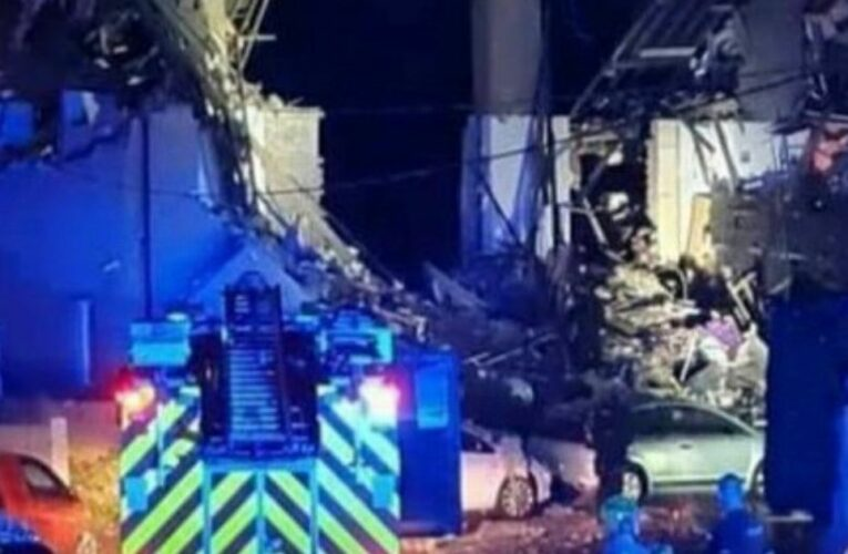Child dies and four injured as three houses destroyed in 'gas explosion'
