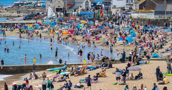 Millions of Brits flock to beaches on hottest day of 2021 as mercury hits 23C