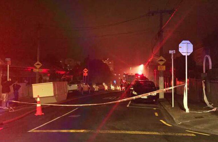 Wellington house fire: One injured after blaze engulfs four properties