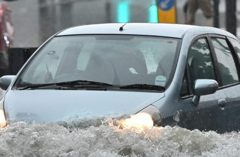 Brits to be hit by days of thunderstorms after a month's rain falls in a day