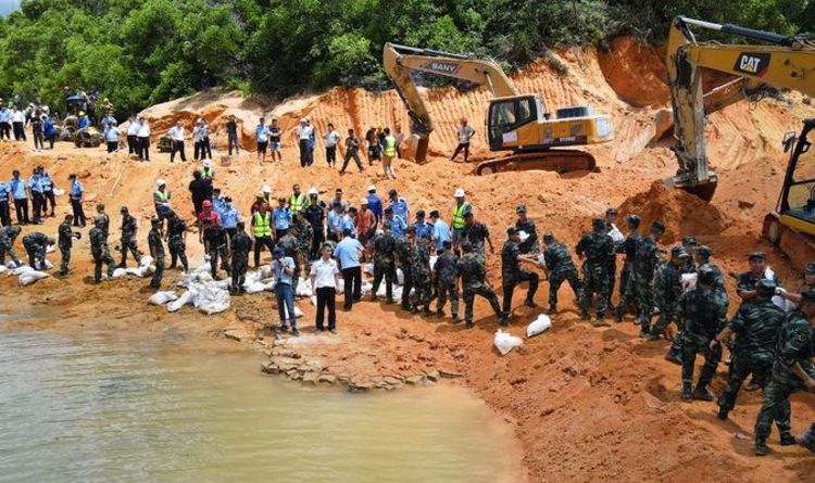 China tunnel rescue: 14 construction workers trapped in flooded underpass in Zhuhai