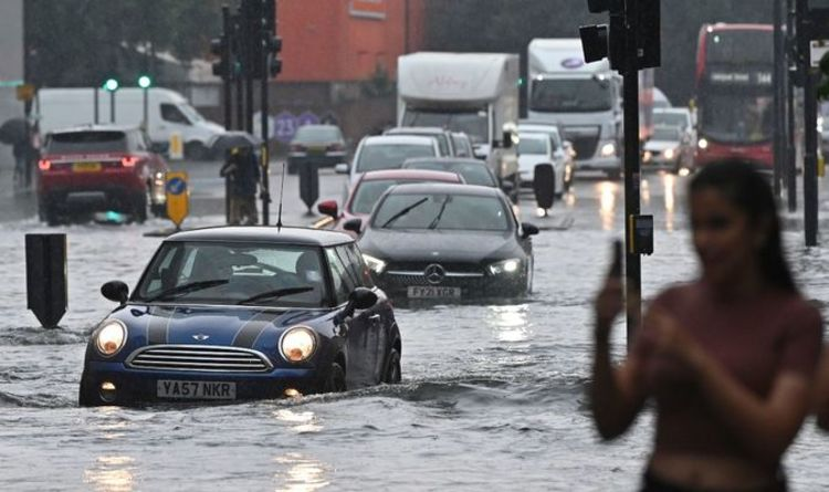 London floods: Tube stations and homes flooded as a month of rain falls in hours – mapped