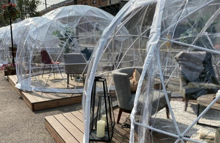 Pedestrian Shops sues My Brother's Bar over outdoor dining domes in parking lot